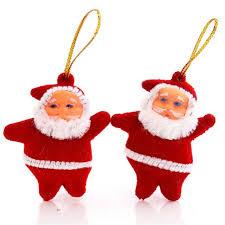 a set of 50pcs mini santa claus pendant tree hanging