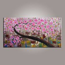 canvas art flower tree painting abstract art painting painting