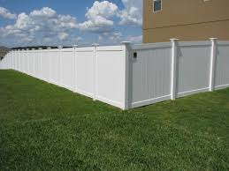 backyard white vinyl privacy fence with caps mossy oak fence