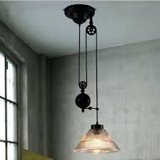Vintage Pendant Lights For Kitchens Pulley Pendant Lighting Industrial Decoration In Hanging