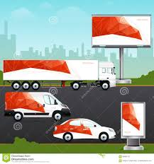 advertising template free design template vehicle outdoor advertising or corporate identity advertising