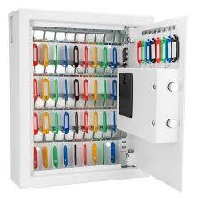 In Wall Security Cabinet 48 Key Cabinet Digital Wall Safe By Barska