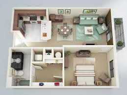Floor Plans For House With Mother In Law Suite 50 One U201c1 U201d Bedroom Apartment House Plans Apartment Floor Plans