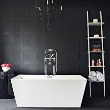 Bathroom Wood Paneling 20 Bold Black Bathroom Design Ideas Rilane