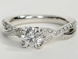 twisted band engagement ring twisted pave band engagement ring in 14k white gold engagement