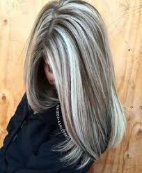 pics of lo lites in short white hair heavy platinum highlights with rich chocolate brown lowlights no