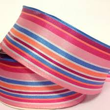 wire edged ribbon 38mm funky stripe ribbon wired edge sale