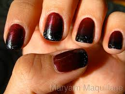 maryam maquillage black blood ombre nails