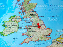 English Channel Map Nottingham Uk Pinned On A Map Of Europe Stock Photo 614734354 Istock