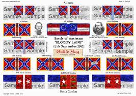 Bonnie Flag 25mm 28mm Confederate Wargame Flags Battle Flag