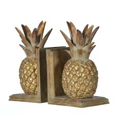pineapple bookends home decor