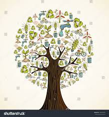 environmental conservation icons tree stock vector