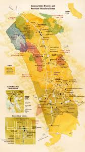 Sonoma State Map by Sonoma Valley Taste Of Wine