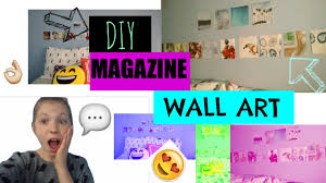 Magazine Wall Art Diy by Diy Magazine Wall Art Youtube