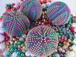 knitting mardi gras bead balls jewelry tutorials bead