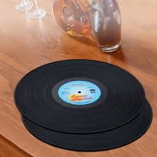 vinyl record placemats unique home decor accessories witty novelty