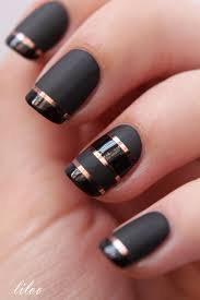 matte black tape manicure liloo beautytipsntricks com