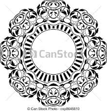 black frame with ornamental border vector clipart search
