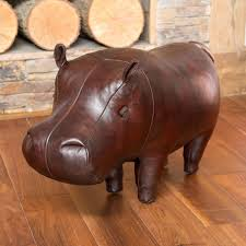Hippo Ottoman Omersa Leather Animals Omersa Pigs More The Present Finder