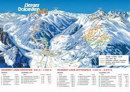 Map Austria Lienz Ski Map Austria Europe