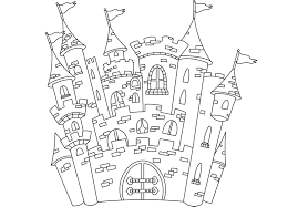 Jeu et coloriage  les coloriages de châteaux  Family Sphere