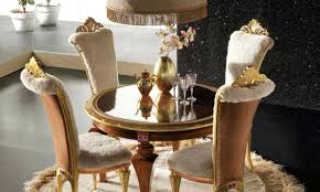 Luxury Dining Room Furniture by Gold Chair Glass Table U2013 Elegant Luxury Dining Room Set By