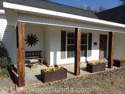 building a covered porch porch post ideas faux wood workshop