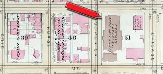 Chicago Fire Map by Holy Name Cathedral Ii