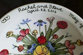 personalized wedding plate chai pottery blessing bowl photo gallery