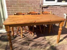 6 seater solid pine dining table 25 well loved and used free