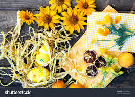 Theme Decoration by Easter Eggs Theme Decoration Stock Photo 601970465 Shutterstock