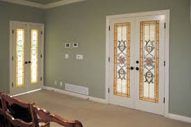 glass french doors stained glass french doors