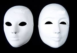 unpainted masks aliexpress buy thicken unpainted white men masquerade masks