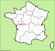 map of poitiers poitiers location on the map