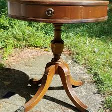 Small Round Pedestal Side Table Antique And Vintage Tables Collectors Weekly