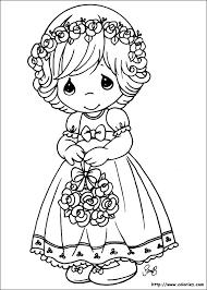 COLORIAGE  Petite fille timide