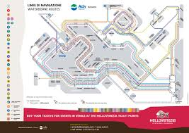 venice vaporetto map official map vaporetto routes of venice italy transit maps