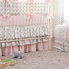 Pink Chevron Crib Bedding Pink And Gray Chevron 2 Crib Bedding Set Carousel Designs