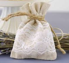 lace favor bags burlap and lace favor bags for rustic weddings set