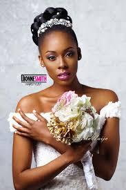 bella naija bridal hair styles natural hair bride adorned cinnabun natural hair styles