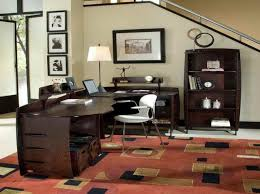 Office Room Interior Design by White Desk And Black Swivel On Carpet In Ikea Home Office Ideas