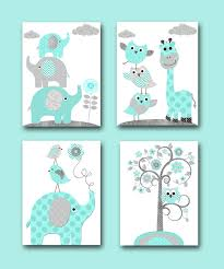 Giraffe Baby Decorations Nursery by Baby Boy Nursery Wall Decor Elephant Wall Decor Giraffe Wall