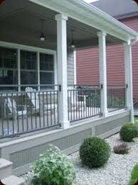 composite decking and railing idea with composite deck skirting of