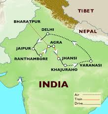 Varanasi India Map by 13 Days Temples Tigers And Taj Mahal