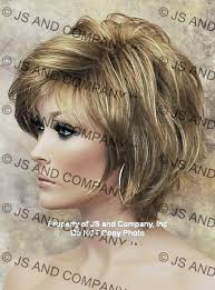 older woman with medim shag haircuts modern and cute synthetic short wig the wig company great hair
