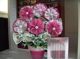 money flowers diy tutorial leis ruffled flower money bouquet bead cord