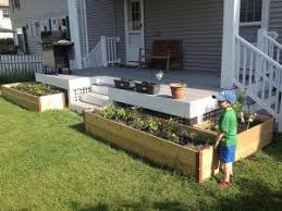 Building A Raised Patio Raised Garden Beds For Patios How To Build Raised Beds