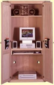 Computer Armoire Corner Corner Computer Cabinet With Doors Home Design Ideas And Pictures