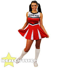 ladies high cheerleader fancy dress costume black blue