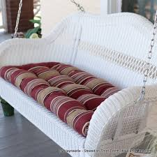 porch swing cushions help keep your hiney happy